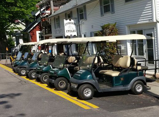Golf Carts for Rent at Sypherd Cycle
